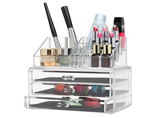 Homeit Clear acrylic Jewelry organizer and makeup organizer