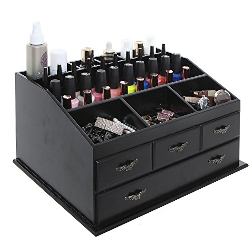 Top Vanity Cosmetic Organizer Chest Box / Countertop Jewelry Tray ...