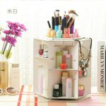 Fantastic Job Makeup Organizers, Woman's Multipurpose Organizer Fashion Rotating Degree For Makeup, Jewelry, Desk Organized,Stationery Organized and More,White