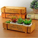 OrliverHL Wooden Make-up Storage Box Organizer Cosmetic Tool Desktop Decoration Groceries Storage