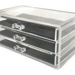 Sodynee Makeup Organizer Cosmetic Organizer Jewelry and Cosmetic Storage Display Box,3 Drawers